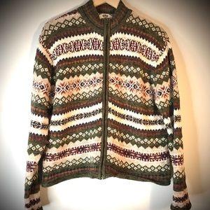 Vintage Sweater Cardigan Tiara Stripe Fair Aisl XL